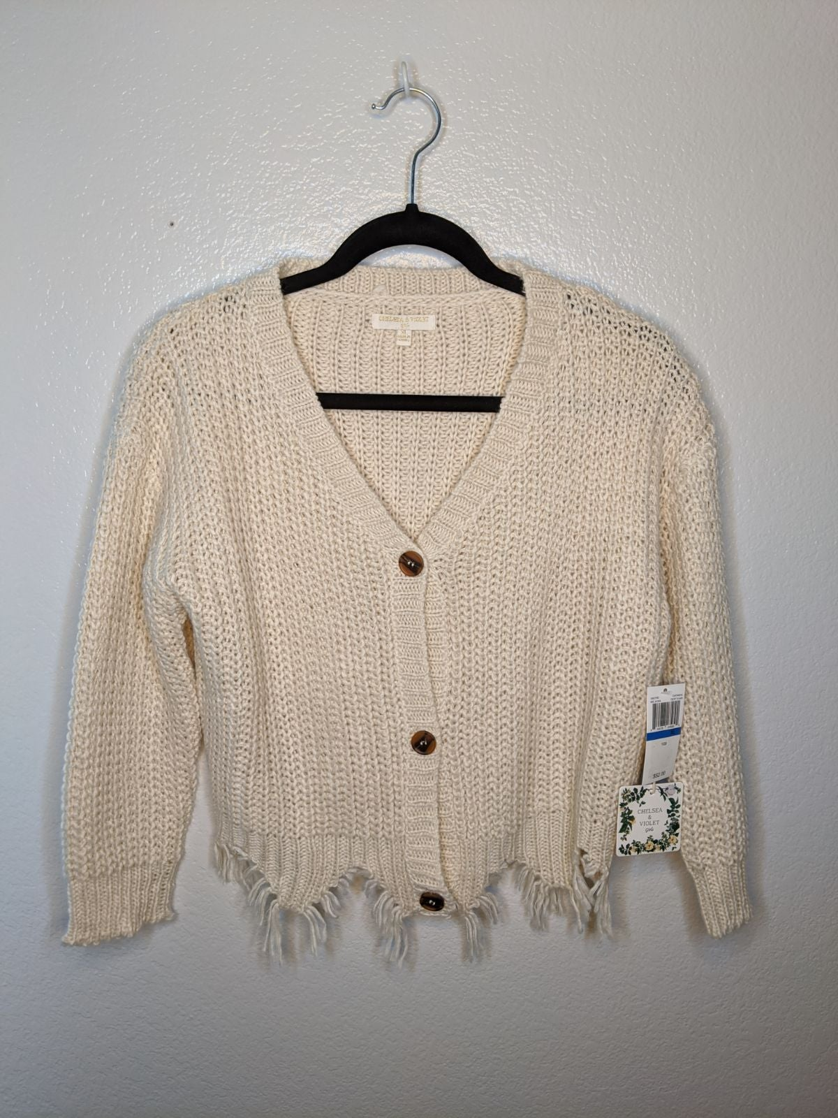 Distressed Knitted Cardigan