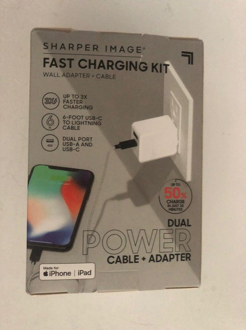 Fast Charge Kit IPhone IPad SharperImage