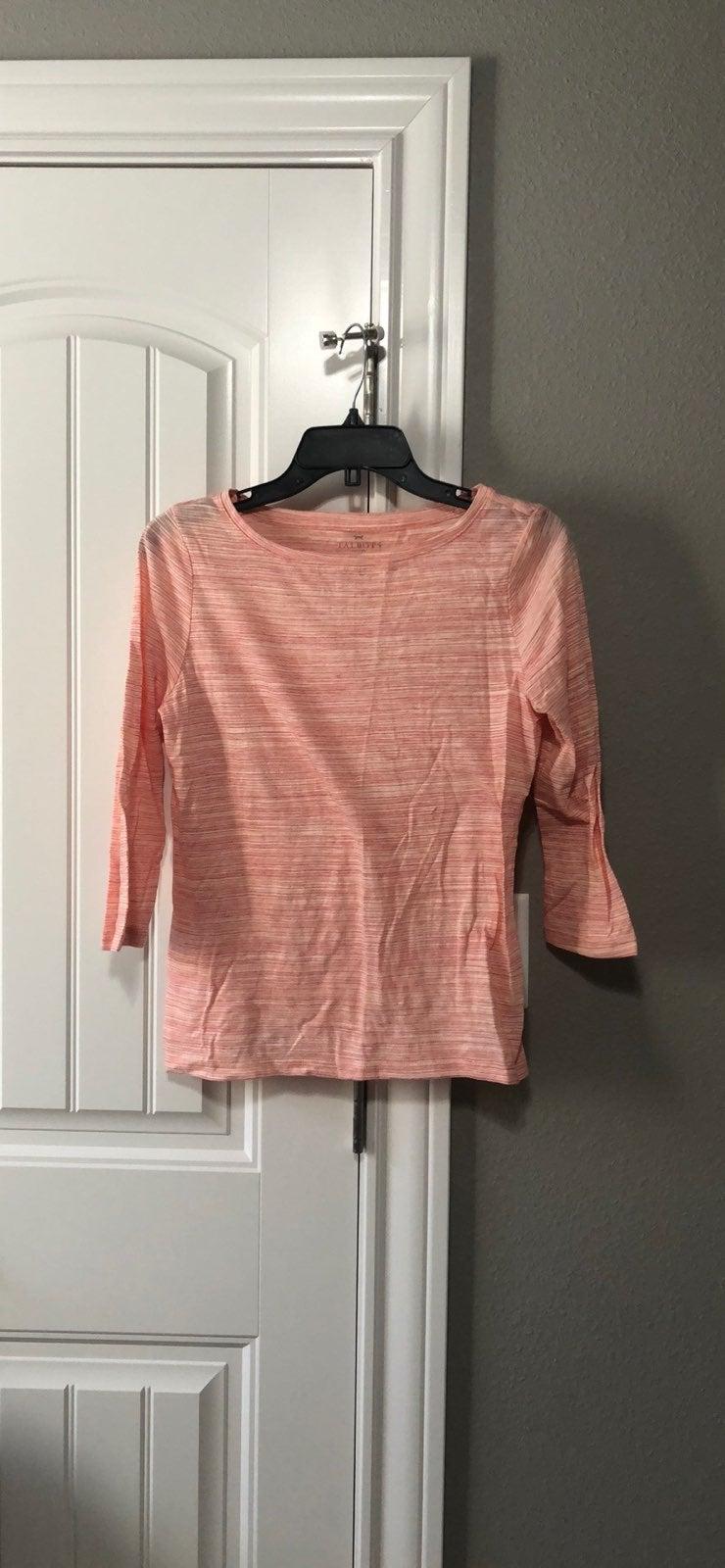 Talbots quarter sleeve tee shirt