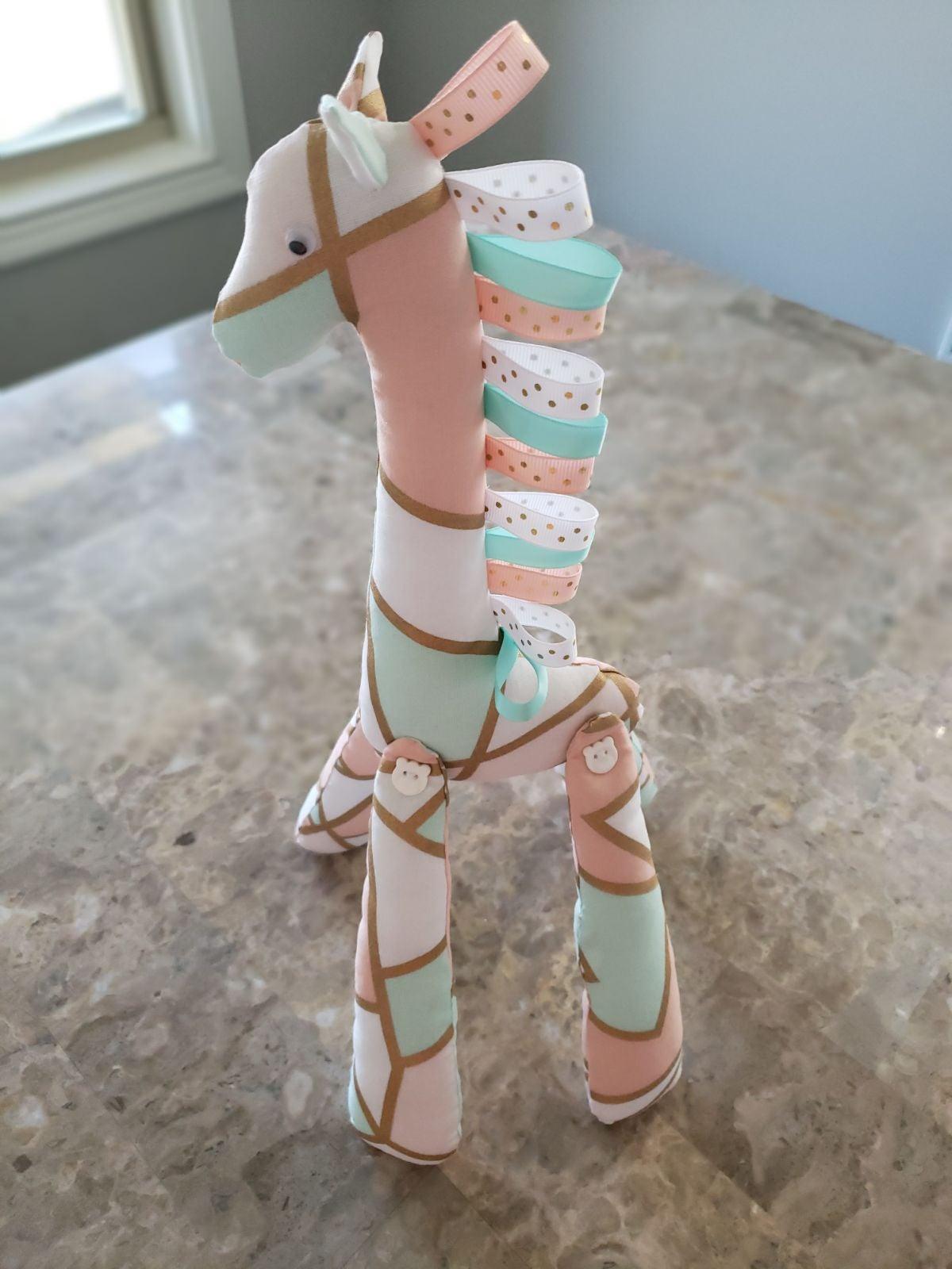 Handmade cuddle toy  - Giraffe