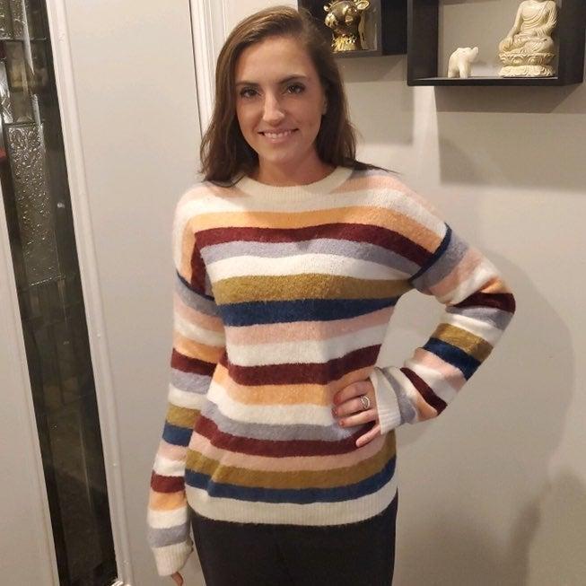 NWT Rails Tira Multi-Stripe Wool Sweater