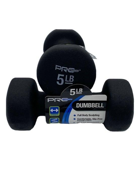 Hex Neoprene 5 lb Dumbbell Weight Set
