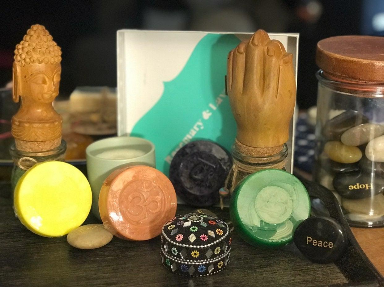 4 Chakra Handmade Face or Body Soap Bar