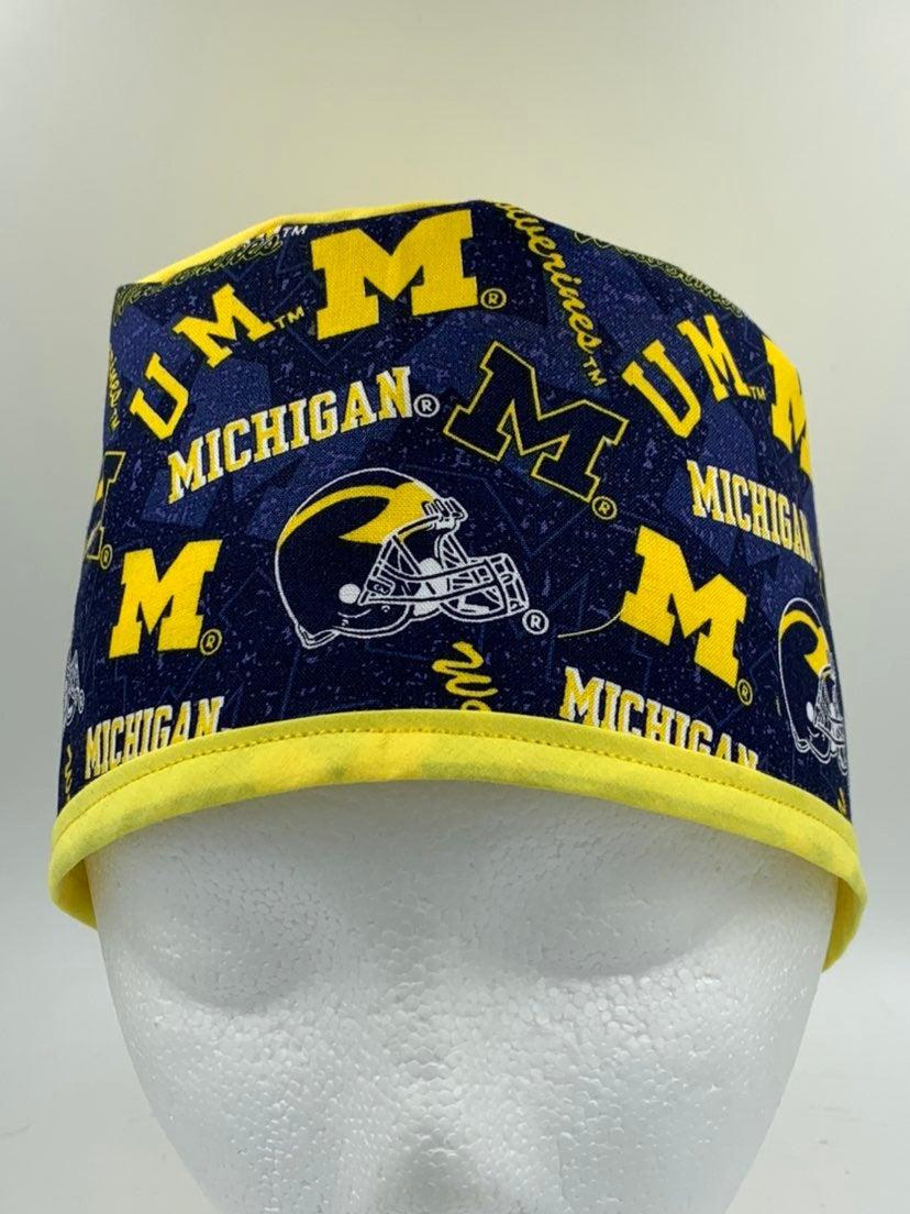 U Michigan Wolverines Scrub Cap/ chef
