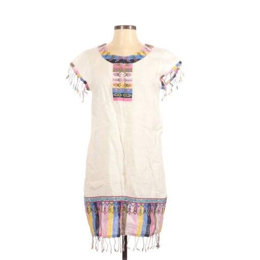 Calypso Cove Ivory BoHo Fringe Dress