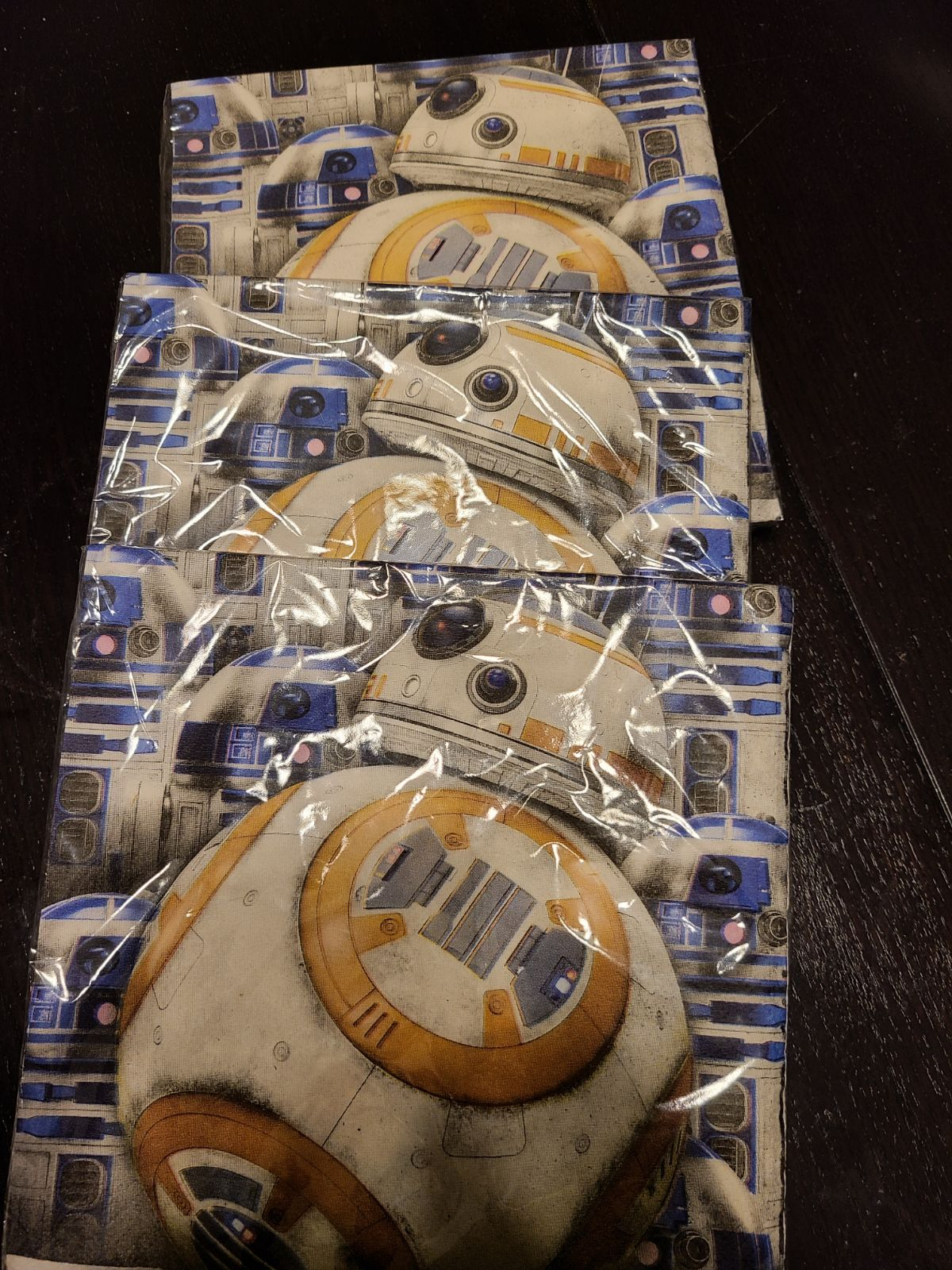 Star Wars bb8 napkins party  collectible