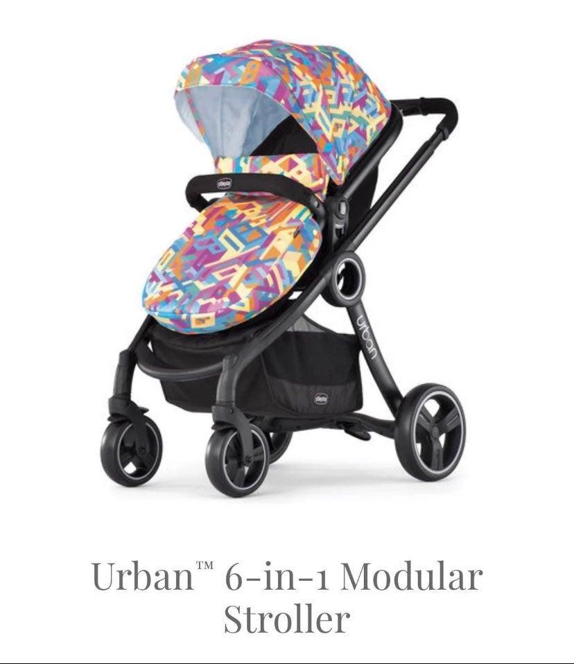 Urban Chicco 6 in 1 bassinet stroller