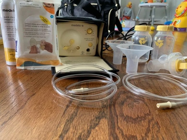 Medela breast pump and accessories