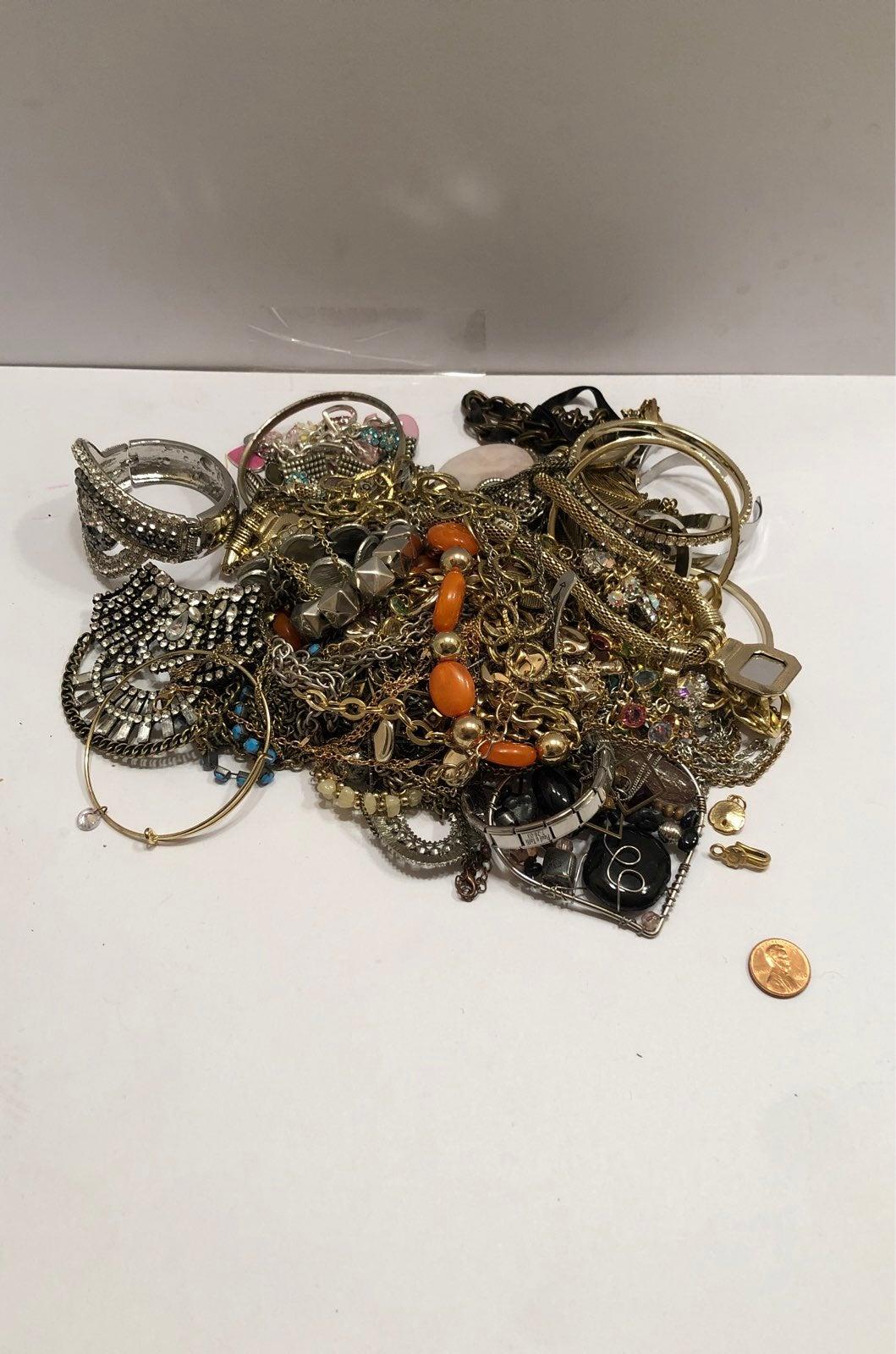 Gold Silver Tone Jewelry lot