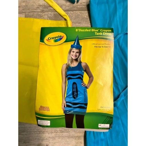 Girls Blue Crayola Crayon Costume Tween