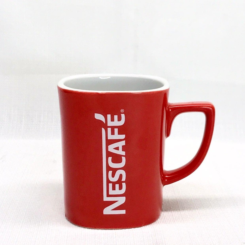 Nescafe Vintage 12 oz. Red Coffee Mug