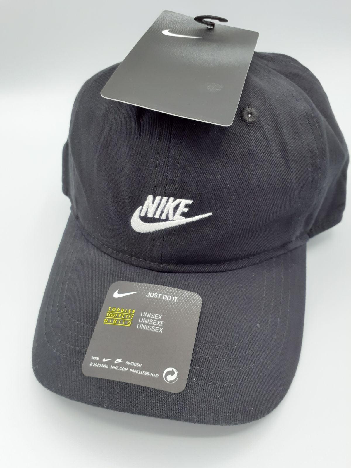 NIKE TODDLER BLACK HAT CAP 2-4T NWT
