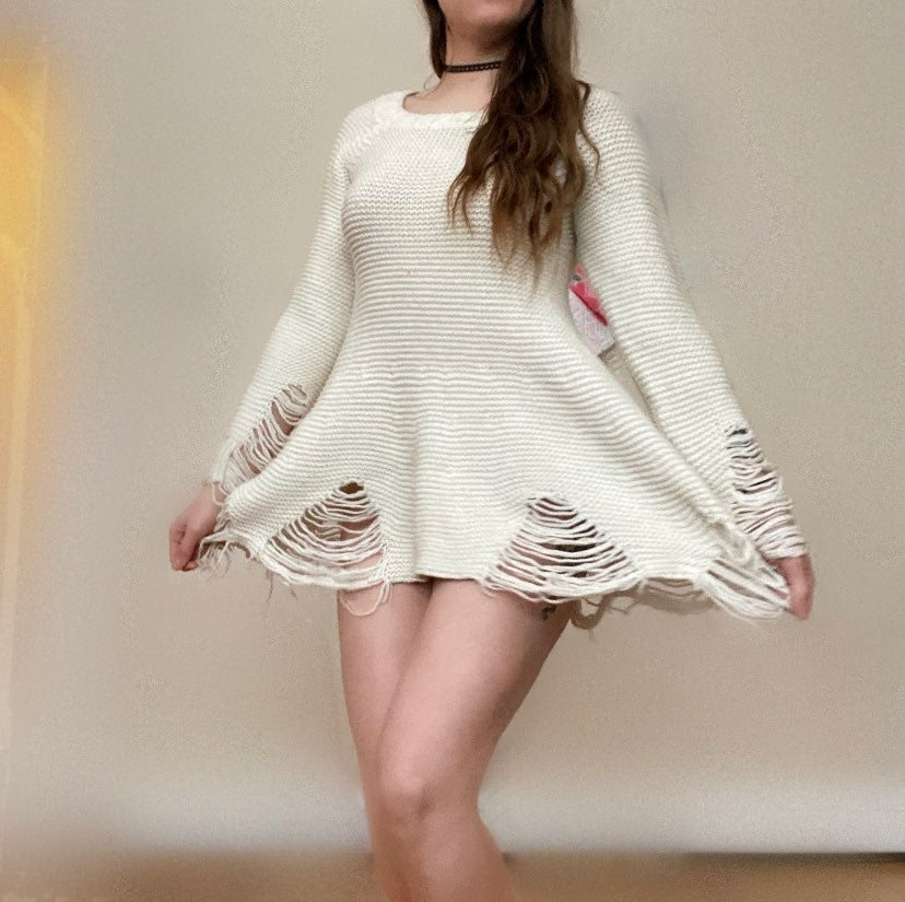 UNIF Distressed Sweater Dress Size Small