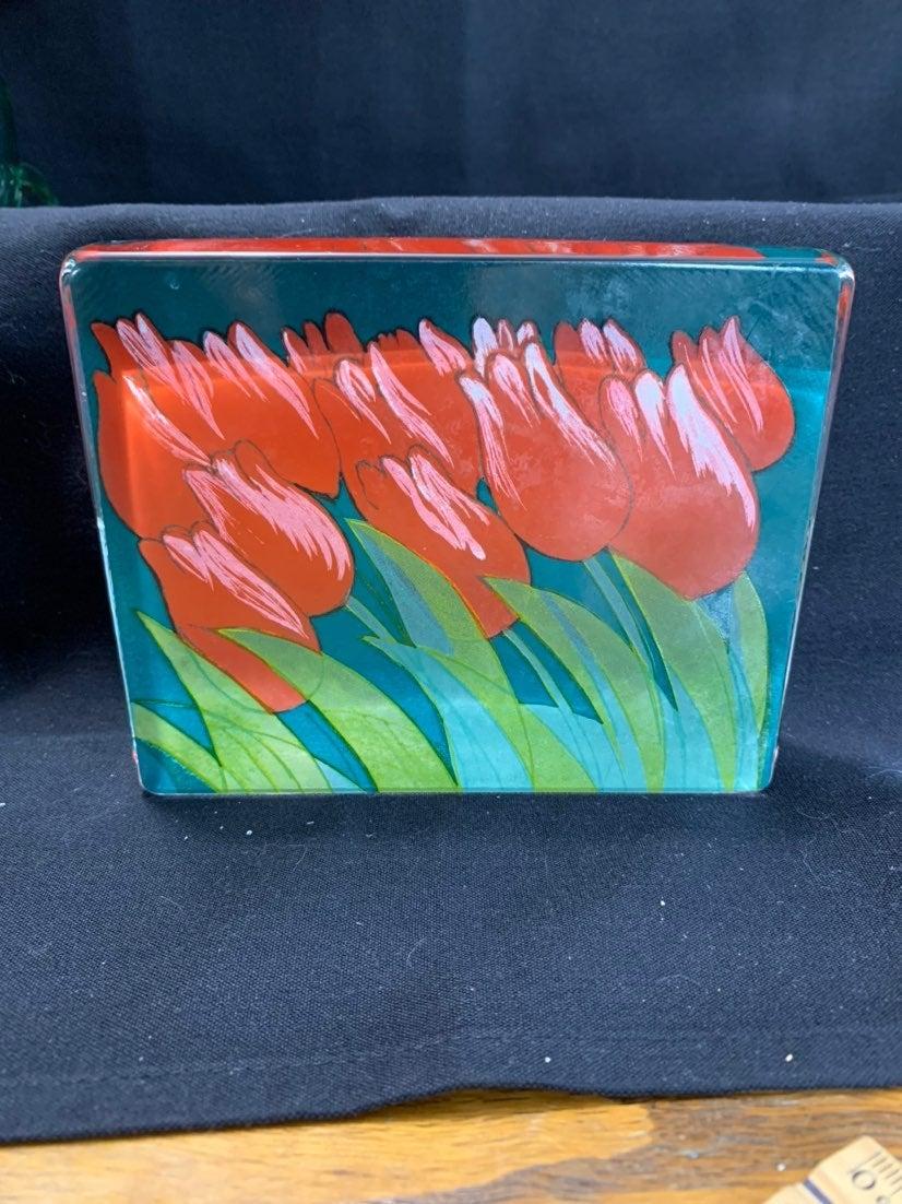 Iittala Garden Red Tulips Italian Glass