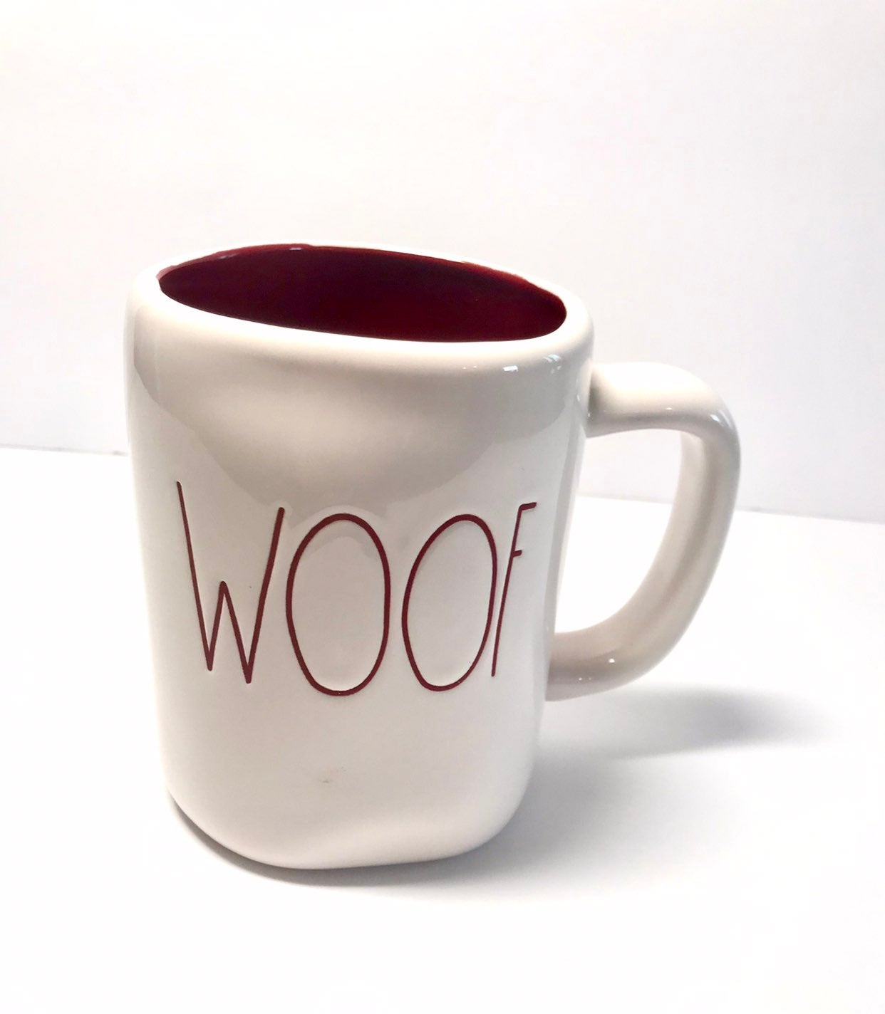 Rae Dunn WOOF mug