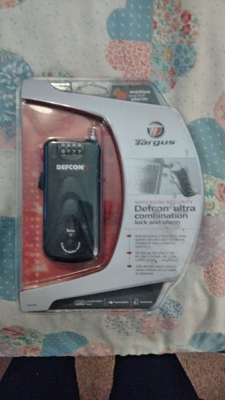 Targus Defcon Ultra combination lock