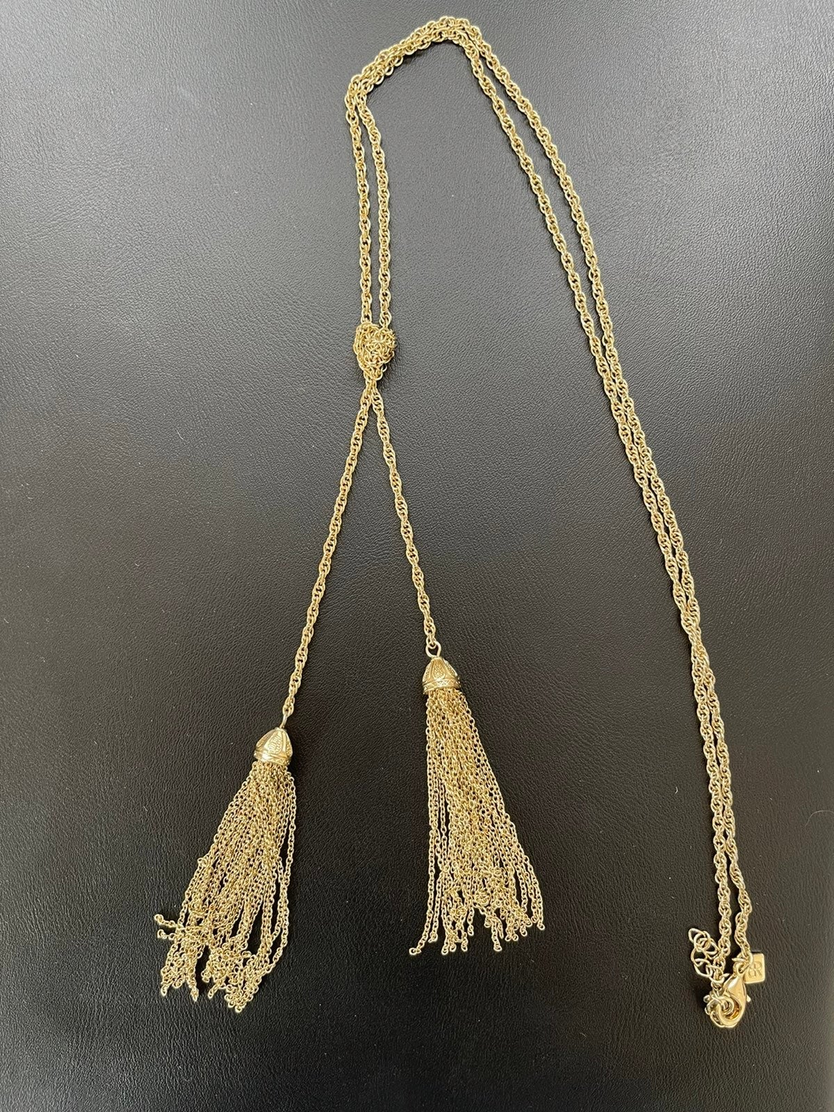 Bauble Bar Long Gold Tassel Necklace