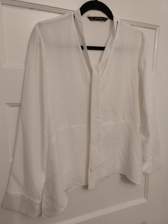 White Zara Blouse Size US Small