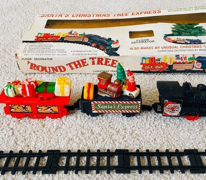 Vintage 50's Santa Christmas Train Set