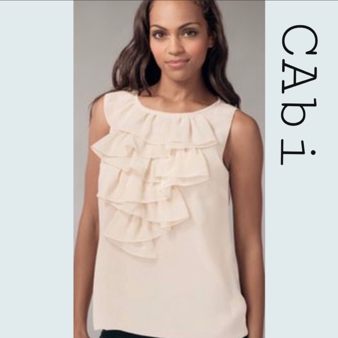 CAbi sleeveless sheer chiffon blouse