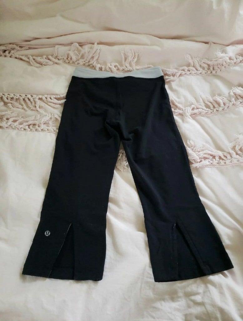 Lululemon black capri crop pant leggings