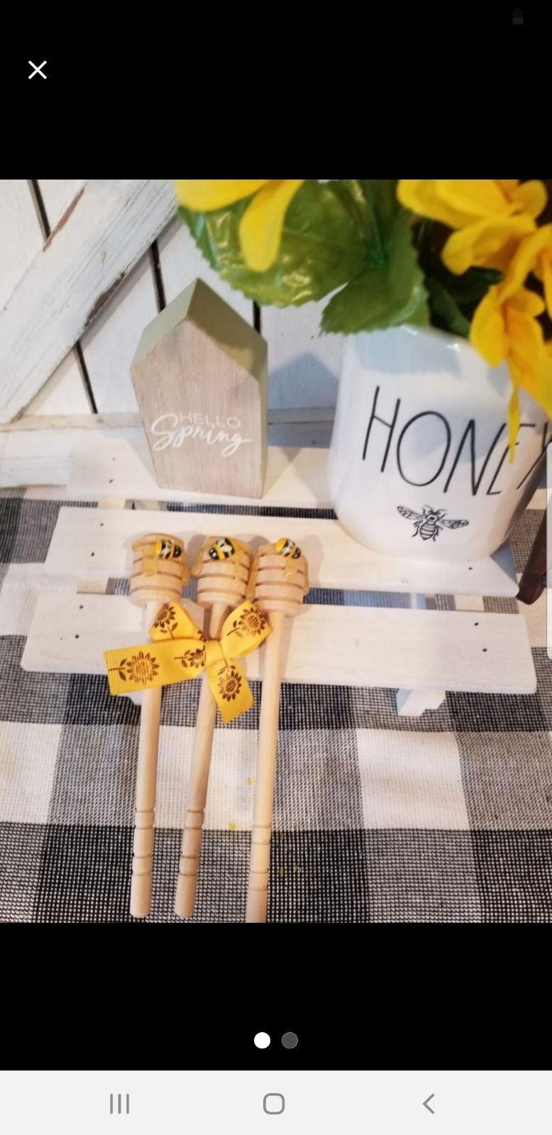 Farmhouse 3pc honey bee faux dipper