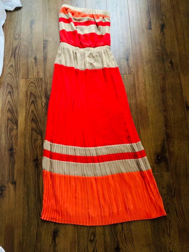 Cache pleated maxi dress size xs