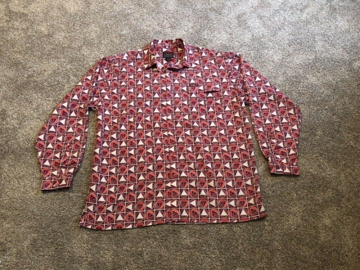 FUBU Vintage 90's Red Button Down Shirt