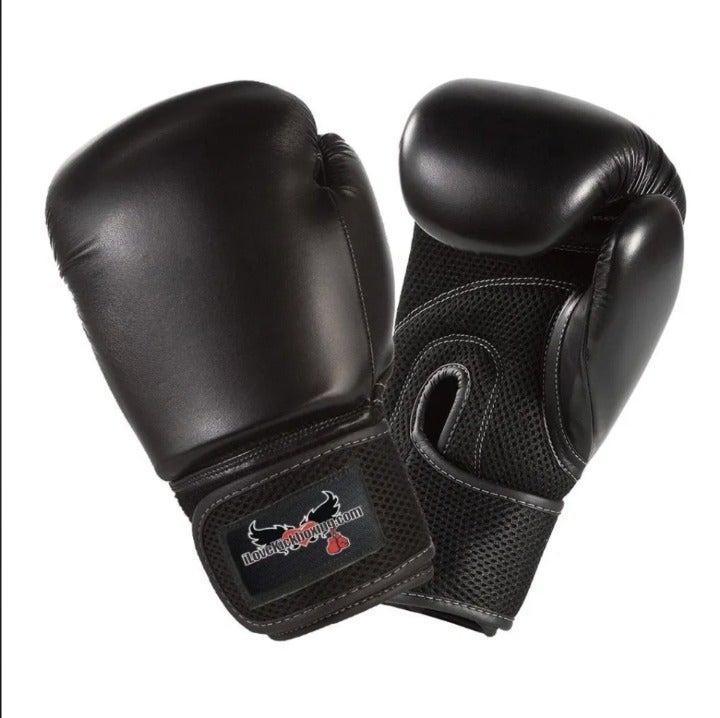 Boxing Gloves Black Kickboxing Sport