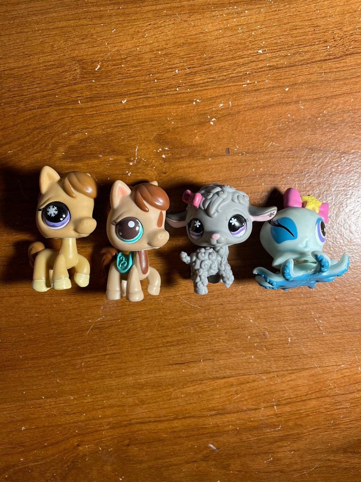 Lps horses, lamb, and octopus
