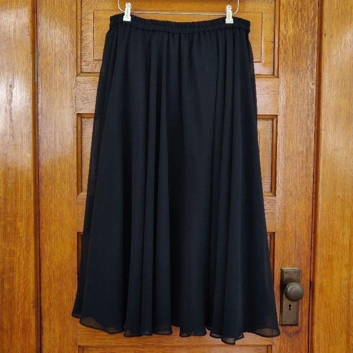 Long Sheer Black Skirt Size 16