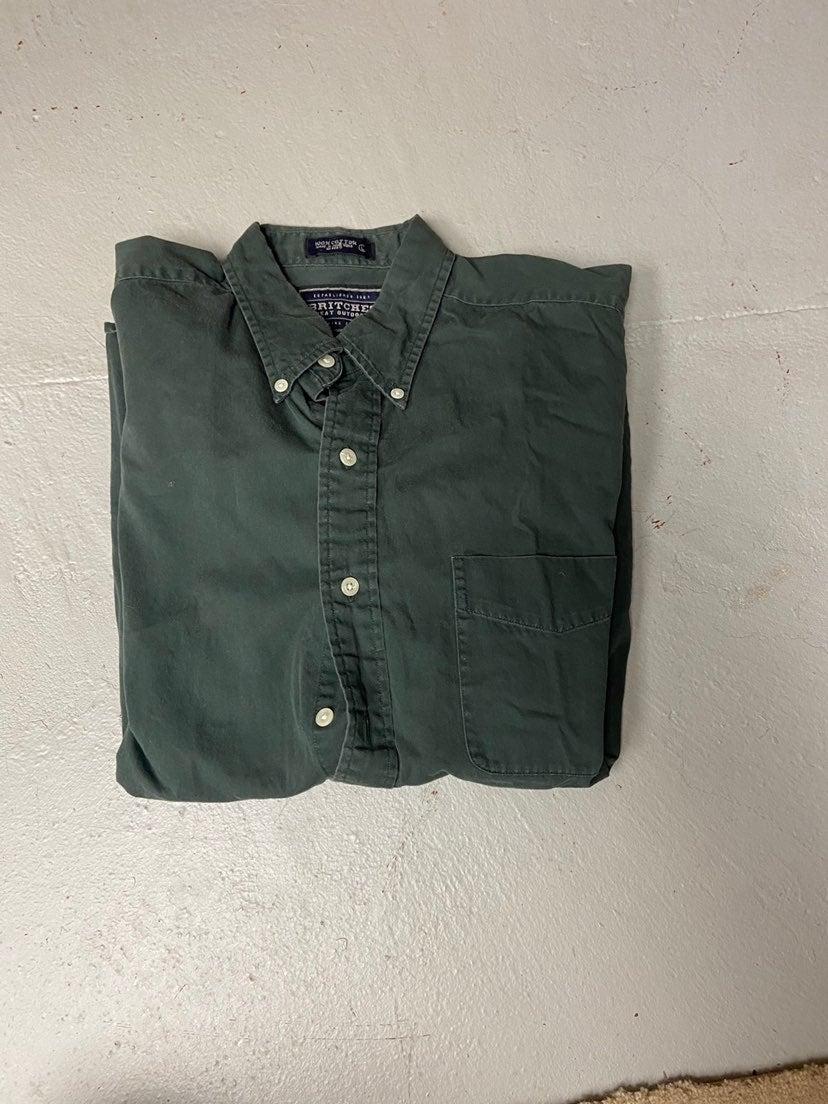 Green Casual Button Down