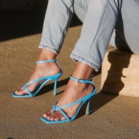Tony Bianco Becca Leather Sandal in Blue