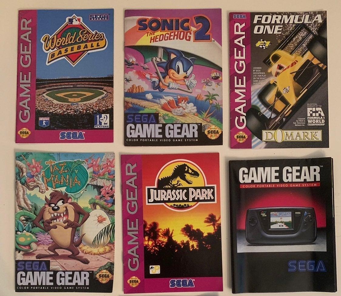 Sega Game Gear Manuals