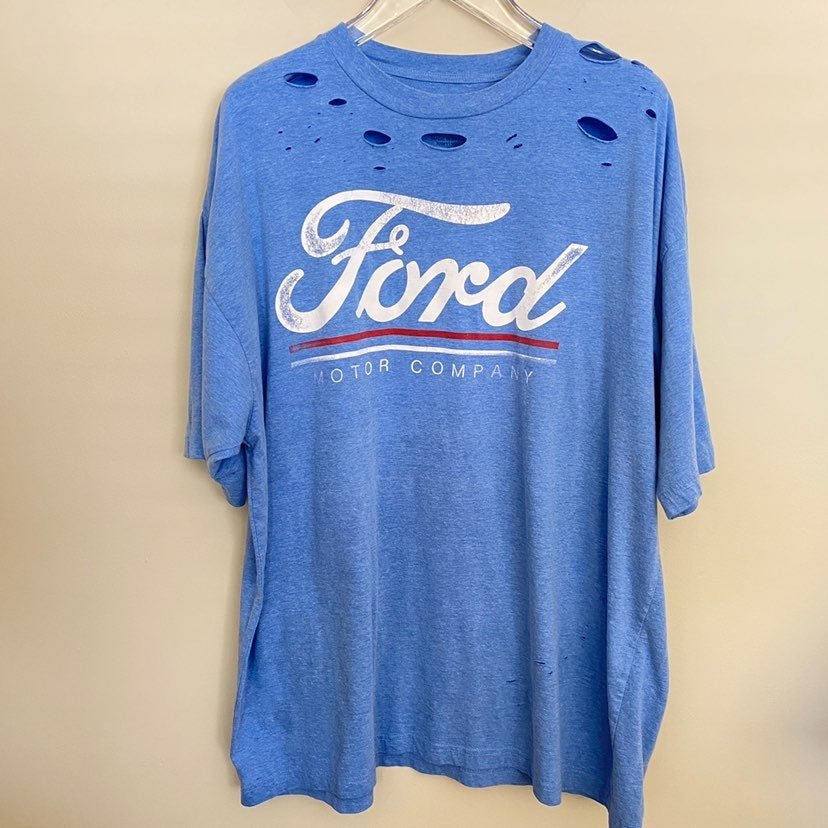 Ford Upcycled Distressed T-Shirt/Dress
