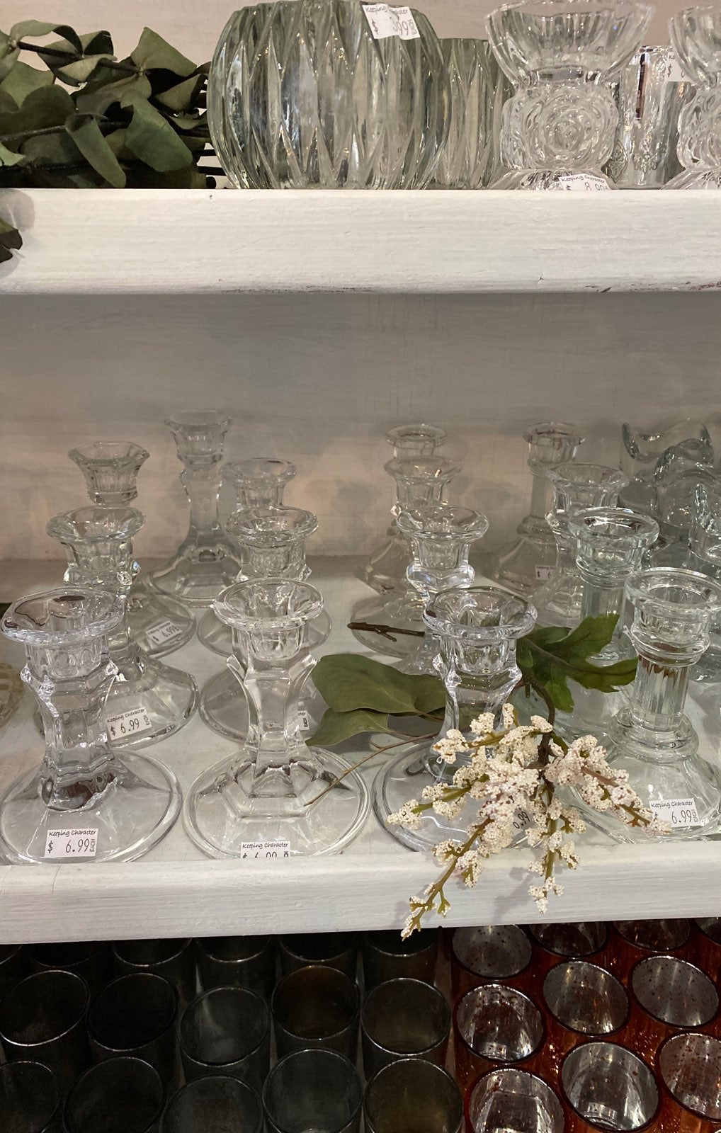 Wedding glass candle holders