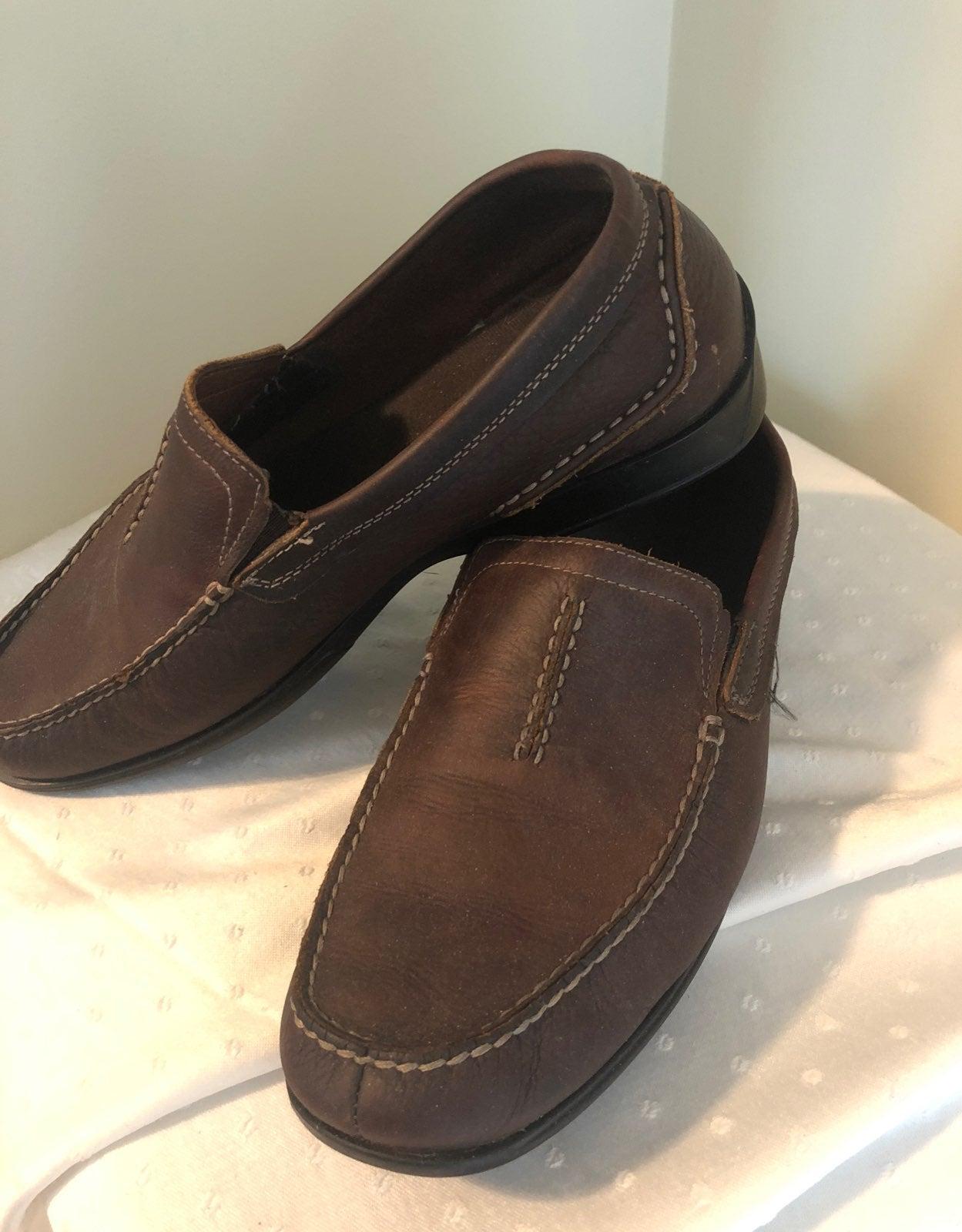 Clarks brown slip on moccassin. 10.5m