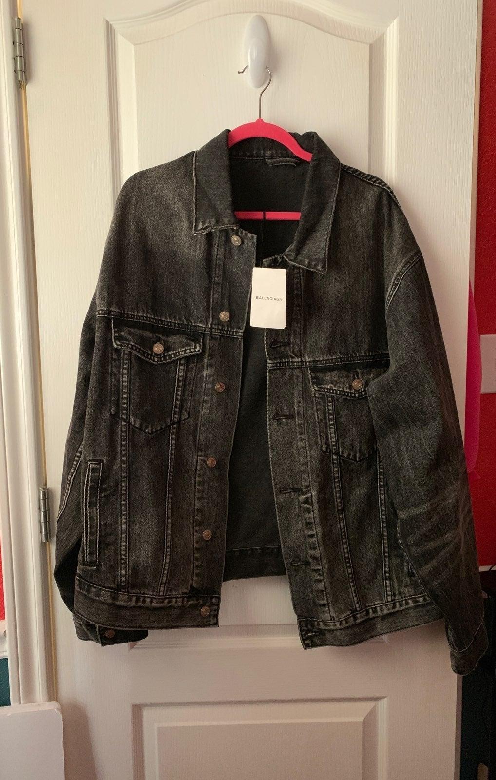 Balenciaga Black Denim Jacket
