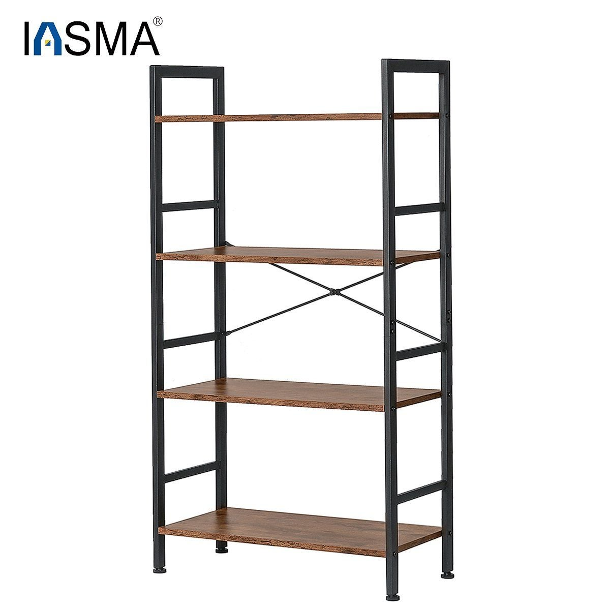 4 Tier  Bookcase  with Metal Frames