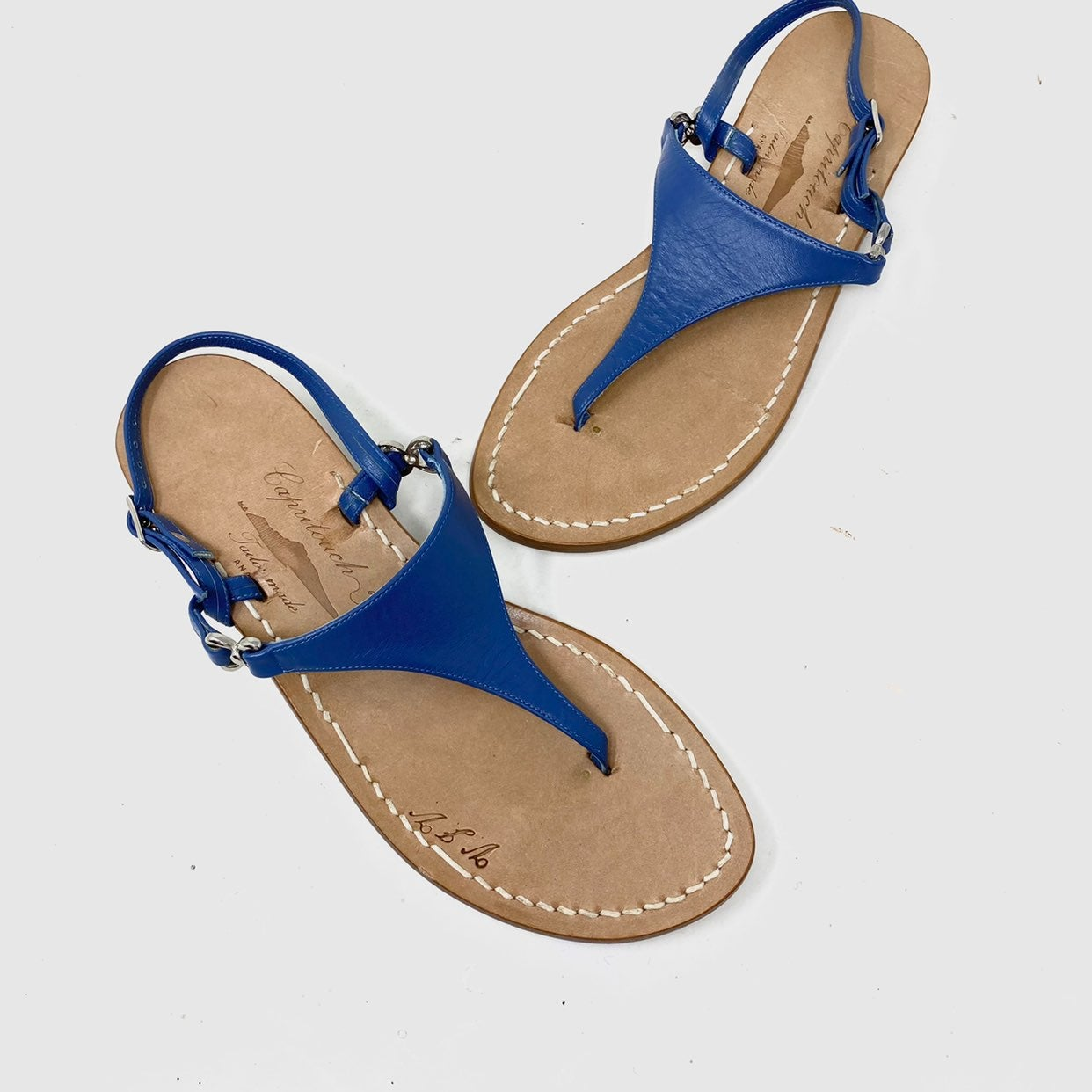 Capritouch handmade leather thong sandal