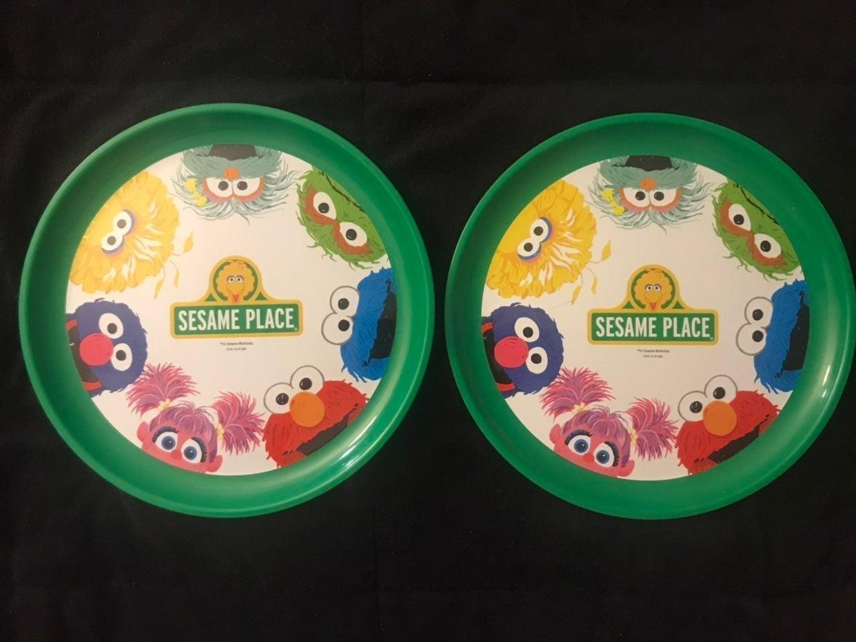 Two Sesame Street Plastic Plates