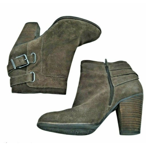 Gianni Bini Boots Suede Ankle Side Zip B
