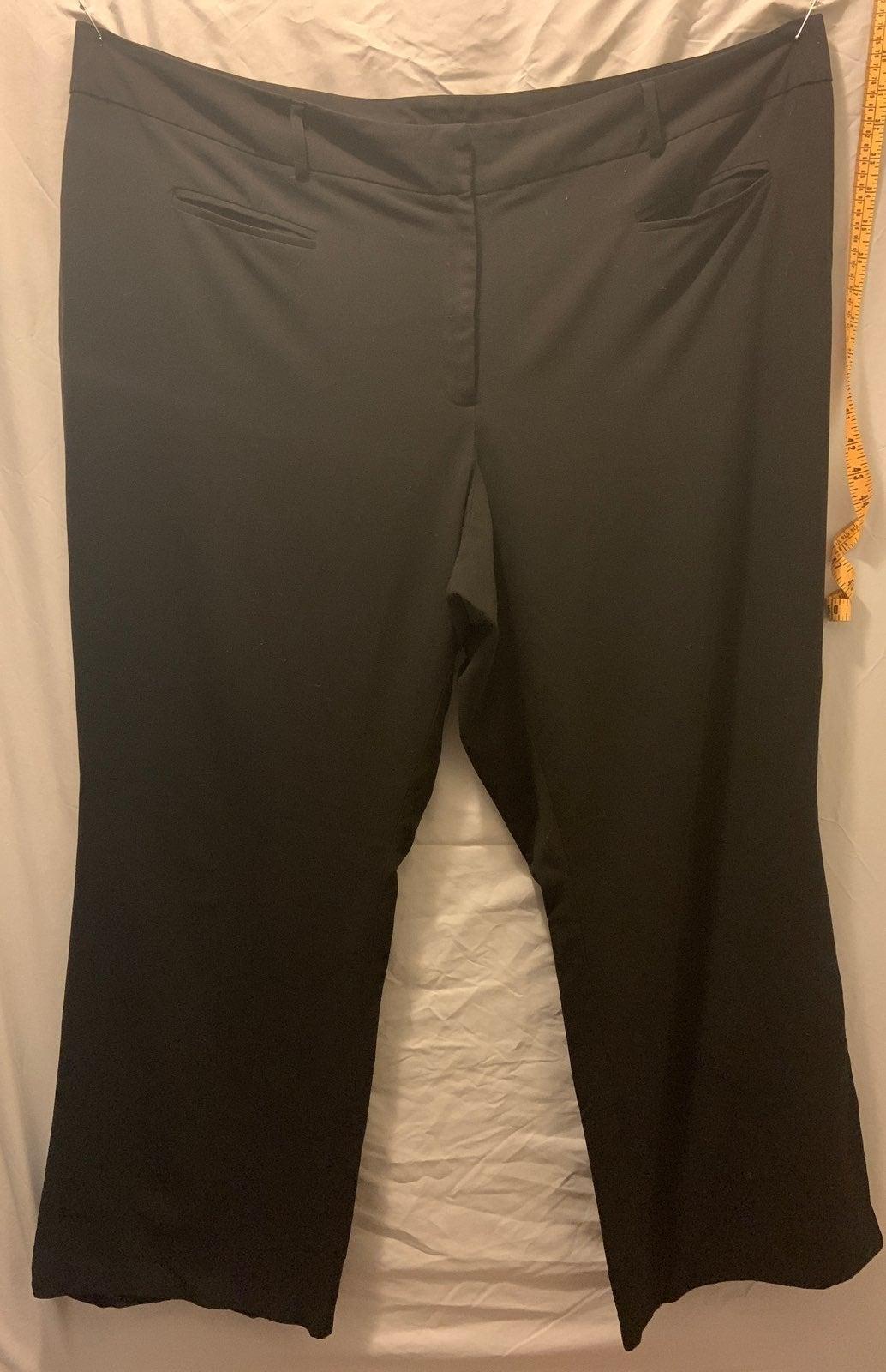 plus size 24 black dress pants