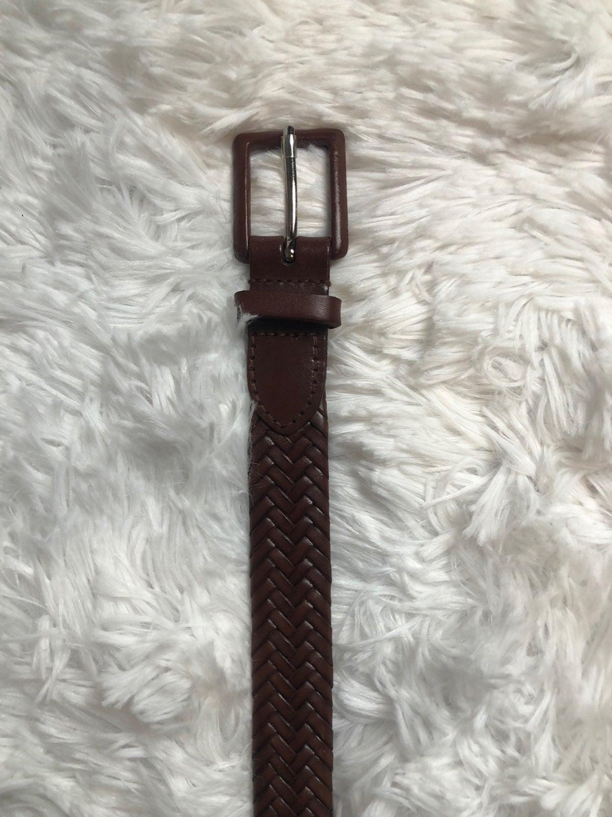 NWOT Talbots Brown braded Leather Belt S