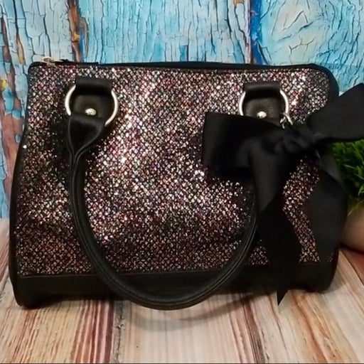 Candie's Multi-Color Glitter bag w/ Bow