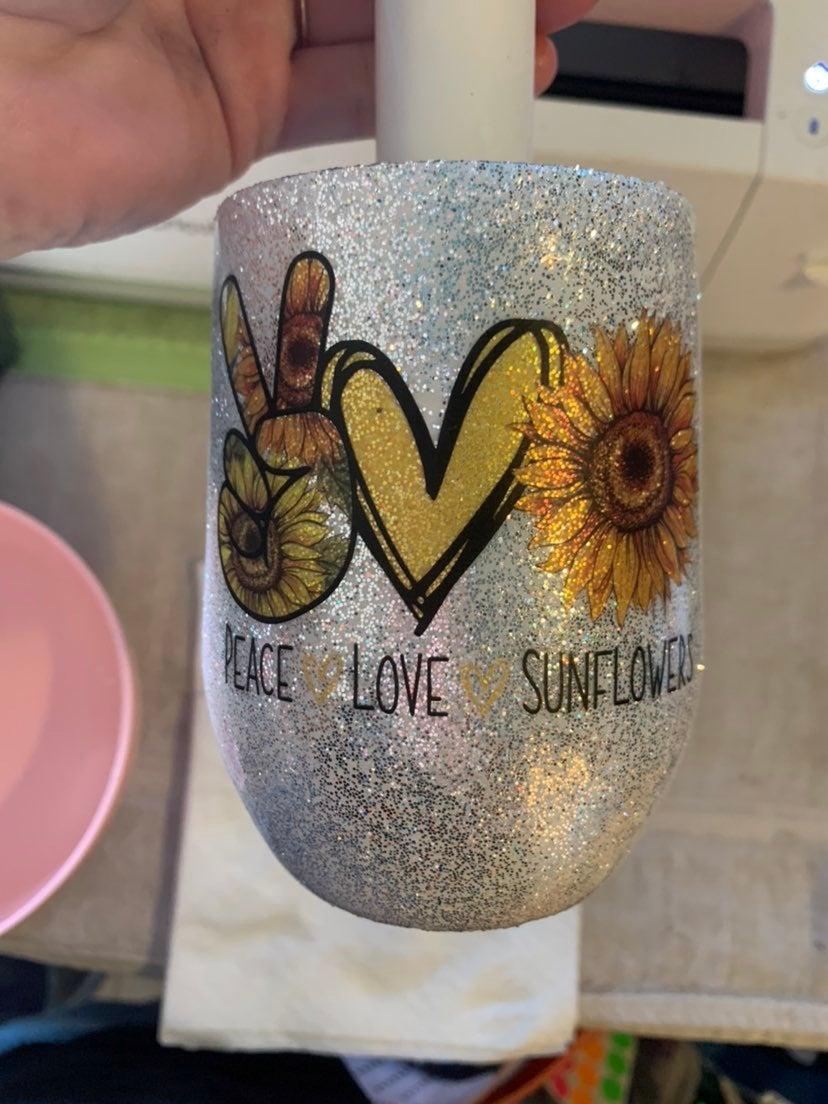 Sunflower wine tumbler