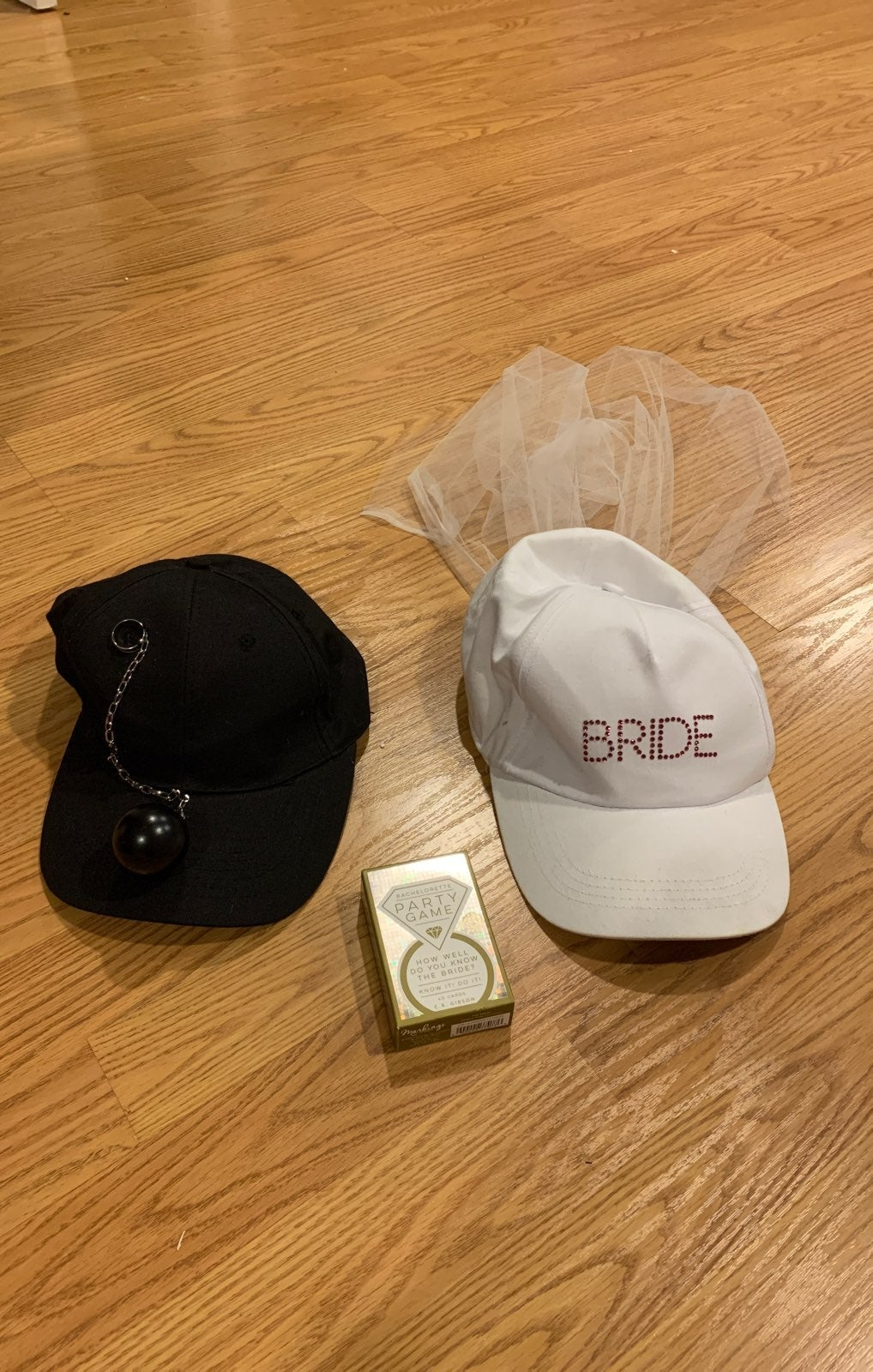Bride and Groom Hat with Party Game