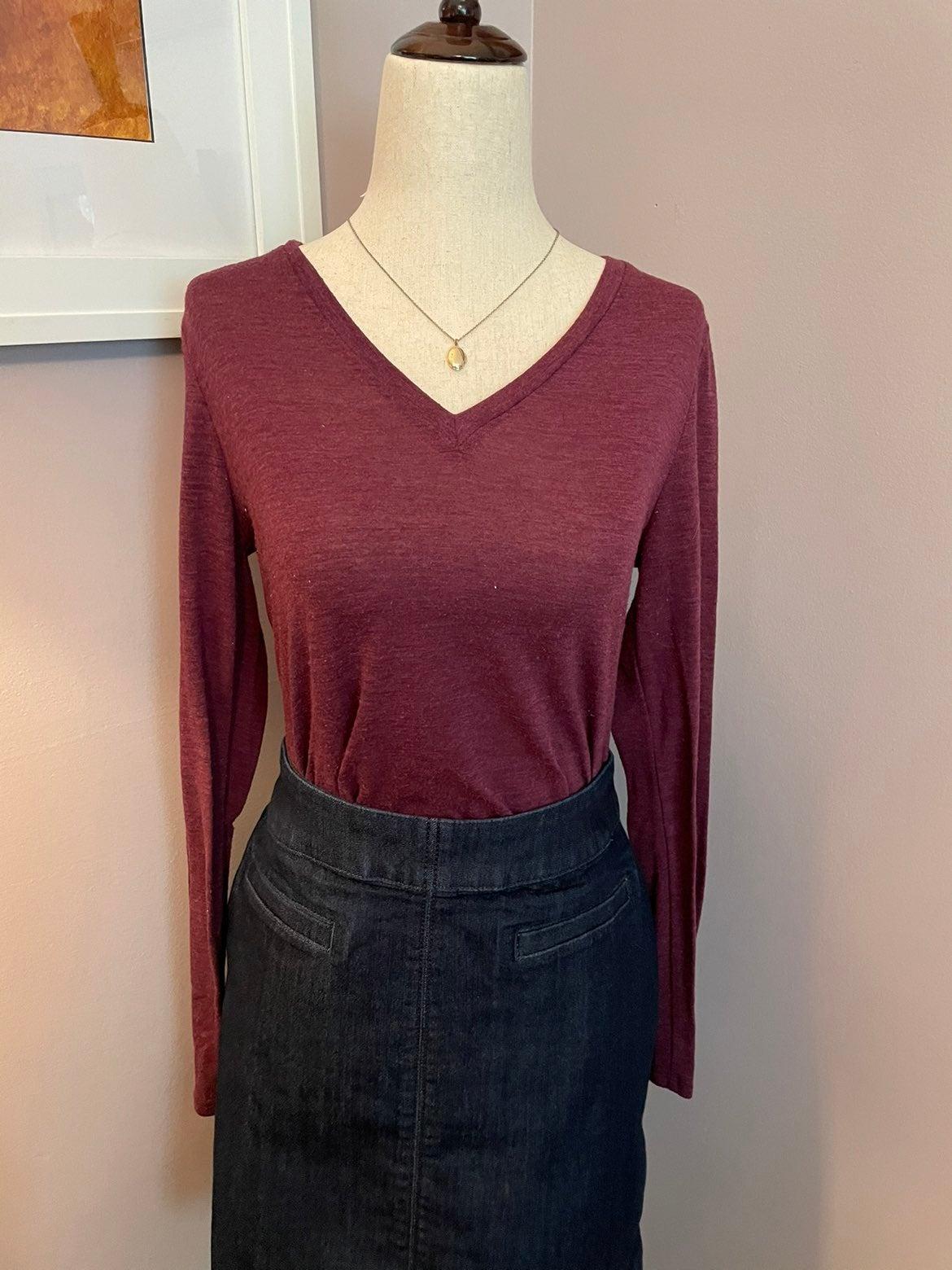 LOFT Red Knit Tunic Top