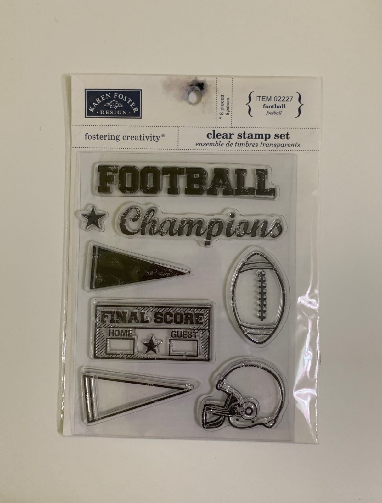 Karen Foster football theme clear stamps