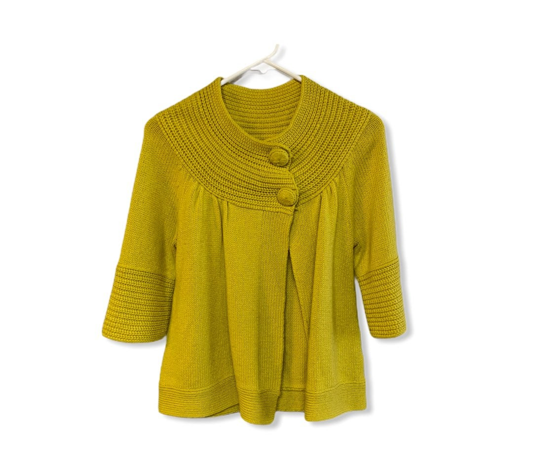 Apostrophe yellow green cardigan s